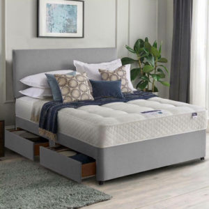 Double Divan Bed Grey