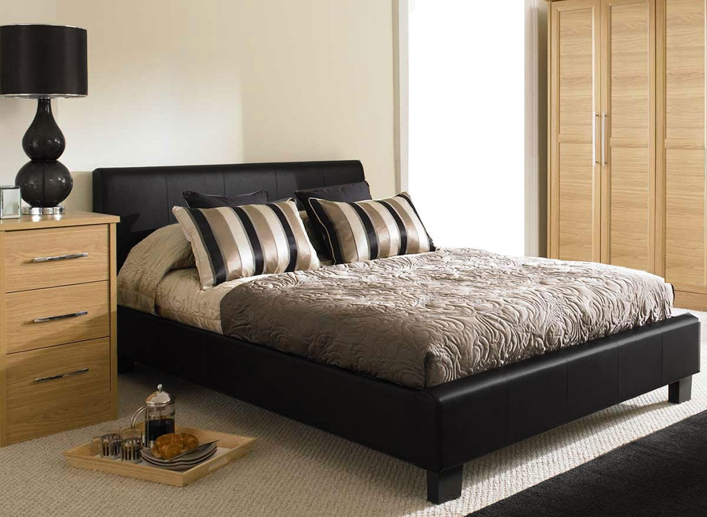 King Size Faux Leather Bed Frame Soft Touch Beds