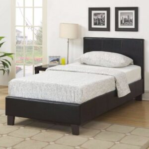 Single Faux Leather Bed Frame