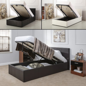 Single Leather Ottoman Storage Bed