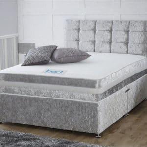Super King Size Crushed Velvet Divan Bed Frame