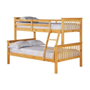 Trio Wooden Bunk Bed