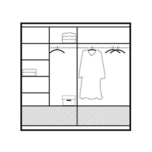 208cm marsylia wardrobe interior