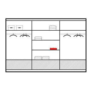 255cm marsylia wardrobe interior