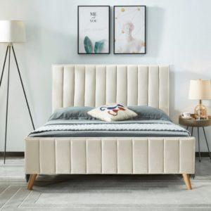 Plush velvet Lucy bed
