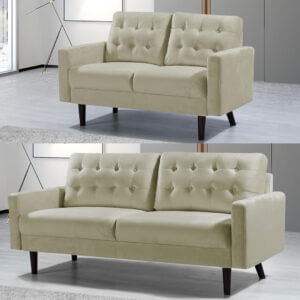 3 and 2 seater Mazz Velvet Sofa