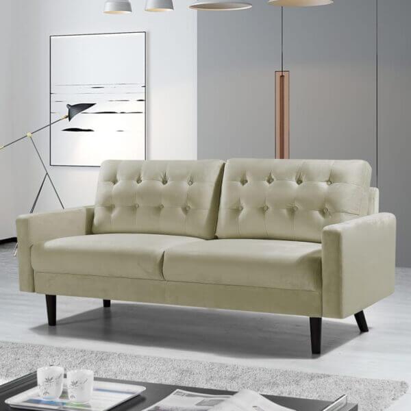 3 seater Mazz Velvet Sofa