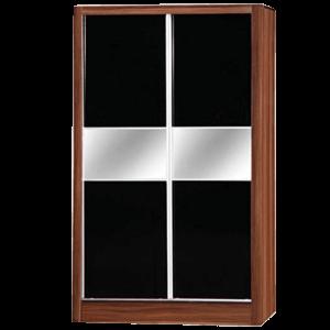 Alpha High Gloss 2 Door Sliding Mirror Wardrobe
