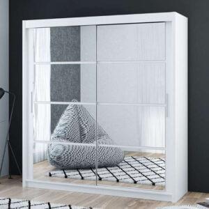 Dakota 160cm Sliding Mirror Door Wardrobe