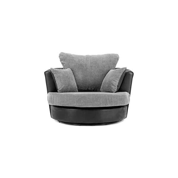 Dino Swivel Chair Black & Grey